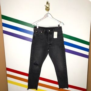 NEW Levi's 501 button fly skinny jeans